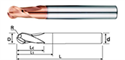 Picture of End Mill -Ball Nose  End For Hardened Steel